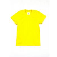 Футболка желтая однотонная