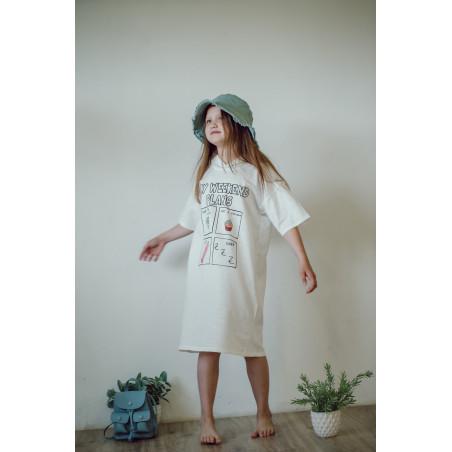 Пляжная туника для девочки, с капюшоном