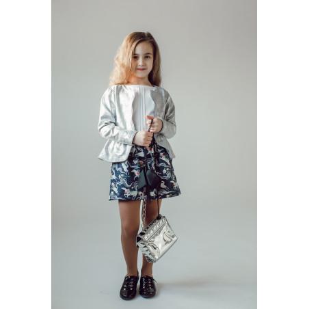 Жакет для девочки Серебро
