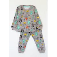 Пижама утепленная для мальчика МОНСТРИКИ