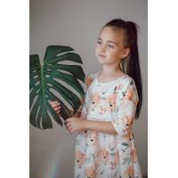 Платье для девочки ЛЬВЫ В ЦВЕТАХ