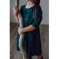 Платье для девочки ГЛАЗА НА ИЗУМРУДЕ